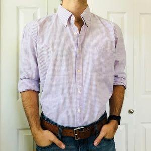 J. Crew Tailored Fit Pink Blue Tattersall Shirt XL